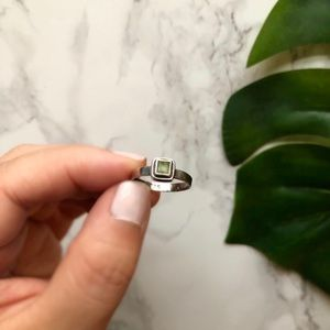 💚PERIDOT FACETED RING💚